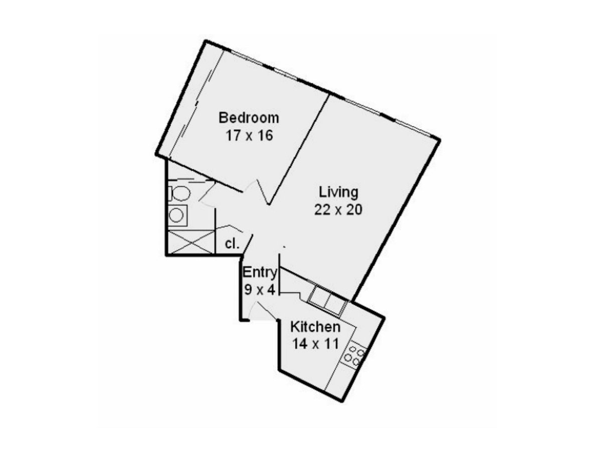 1 Bedroom 1 Bathroom Apartment for rent at Sheridan Lake in Chicago, IL
