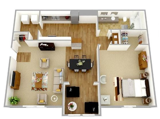 1 Bedroom 1 Bathroom Apartment for rent at Park Place Luxury Apartments in Peachtree City, GA