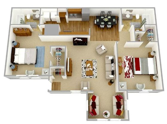 2 Bedrooms 2 Bathrooms Apartment for rent at Park Place Luxury Apartments in Peachtree City, GA