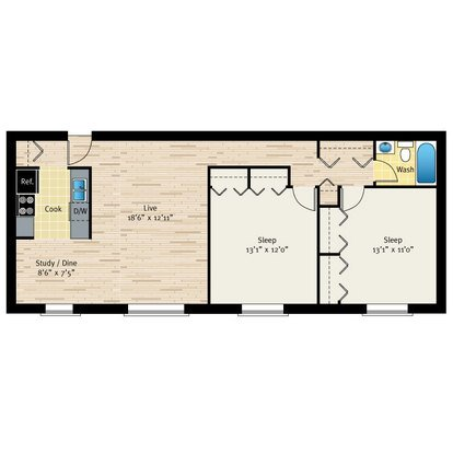 2 Bedrooms 1 Bathroom Apartment for rent at Reside On Morse in Chicago, IL