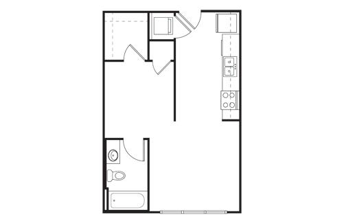 Studio 1 Bathroom Apartment for rent at Tobin Lofts At San Antonio College in San Antonio, TX
