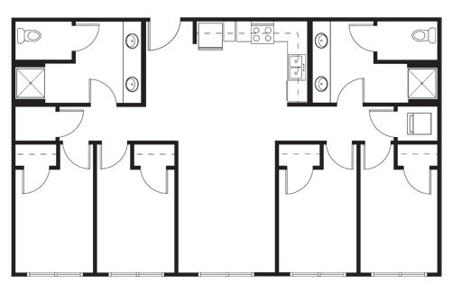 4 Bedrooms 2 Bathrooms Apartment for rent at Tobin Lofts At San Antonio College in San Antonio, TX