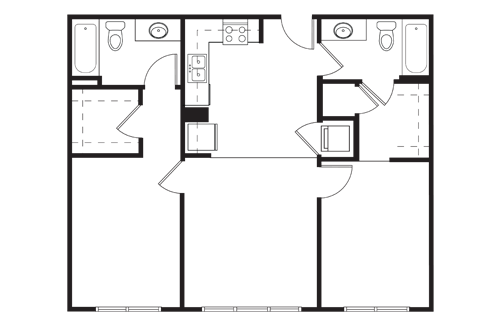 2 Bedrooms 2 Bathrooms Apartment for rent at Tobin Lofts At San Antonio College in San Antonio, TX