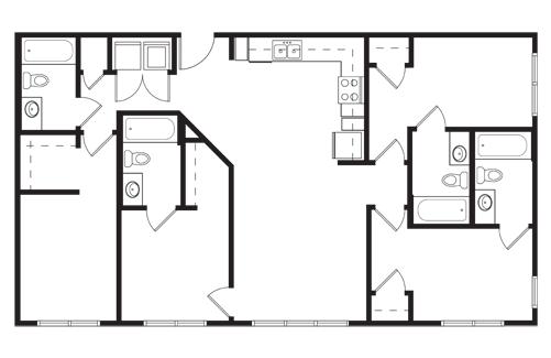 4 Bedrooms 4+ Bathrooms Apartment for rent at Tobin Lofts At San Antonio College in San Antonio, TX