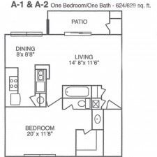 1 Bedroom 1 Bathroom Apartment for rent at 117 W. William Cannon Drive in Austin, TX