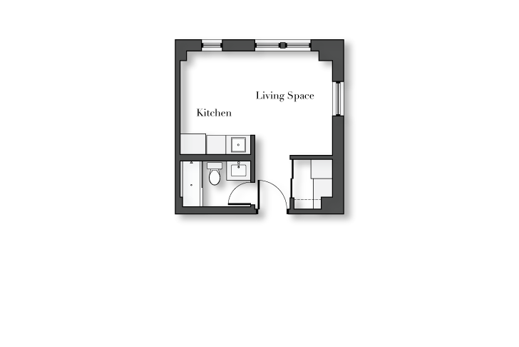 Studio 1 Bathroom Apartment for rent at No. 1325 Wilson in Chicago, IL