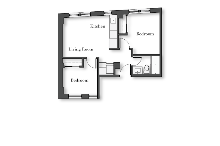 2 Bedrooms 1 Bathroom Apartment for rent at No. 1325 Wilson in Chicago, IL