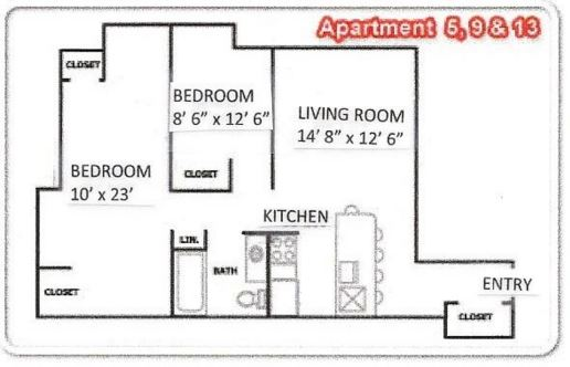 2 Bedrooms 1 Bathroom Apartment for rent at Randall Court Apartments in Madison, WI