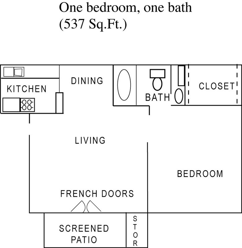 1 Bedroom 1 Bathroom Apartment for rent at Cimarron Crossing Apartments in Arlington, TX
