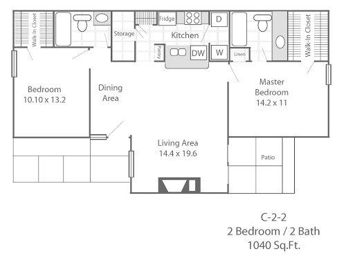 2 Bedrooms 2 Bathrooms Apartment for rent at Cooper Park Apartments in Arlington, TX