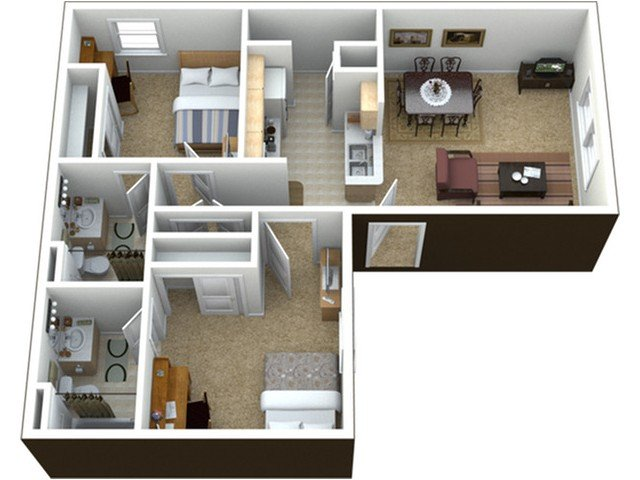 2 Bedrooms 2 Bathrooms Apartment for rent at The Commons At Tallahassee in Tallahassee, FL