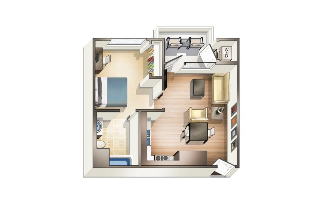 1 Bedroom 1 Bathroom Apartment for rent at Blvd63 in San Diego, CA