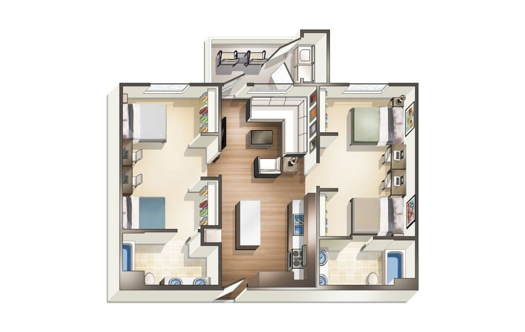 2 Bedrooms 2 Bathrooms Apartment for rent at Blvd63 in San Diego, CA