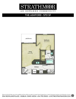 1 Bedroom 1 Bathroom Apartment for rent at Strathmoor in Dublin, OH
