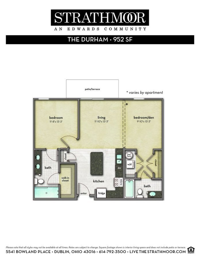 1 Bedroom 2 Bathrooms Apartment for rent at Strathmoor in Dublin, OH