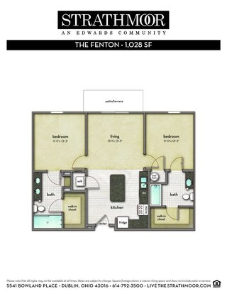 2 Bedrooms 2 Bathrooms Apartment for rent at Strathmoor in Dublin, OH