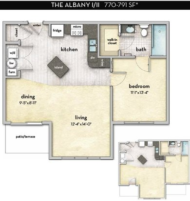 1 Bedroom 1 Bathroom Apartment for rent at Tribeca in Columbus, OH