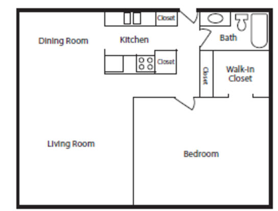 1 Bedroom 1 Bathroom Apartment for rent at Midvale Heights in Madison, WI