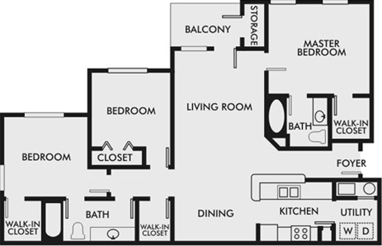3 Bedrooms 2 Bathrooms Apartment for rent at The Bluffs At Riverview in Birmingham, AL