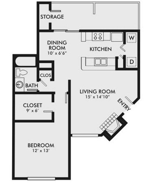 1 Bedroom 1 Bathroom Apartment for rent at Wood Springs in Birmingham, AL