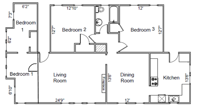 3 Bedrooms 1 Bathroom Apartment for rent at 919-921 Vilas Ave in Madison, WI