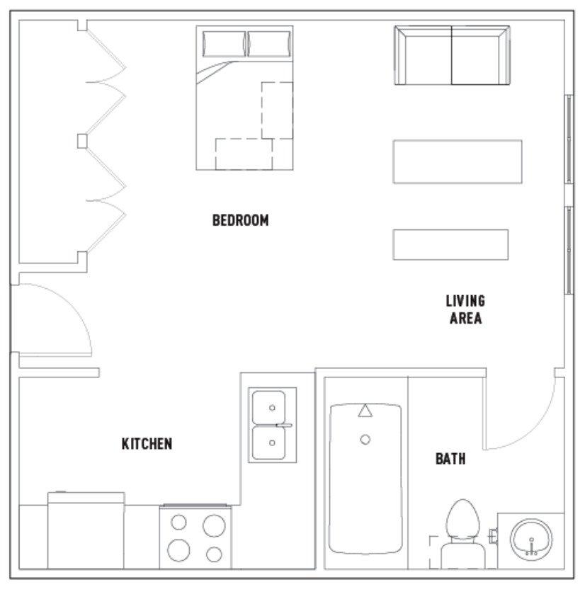 Studio 1 Bathroom Apartment for rent at 504 E. White St. in Champaign, IL