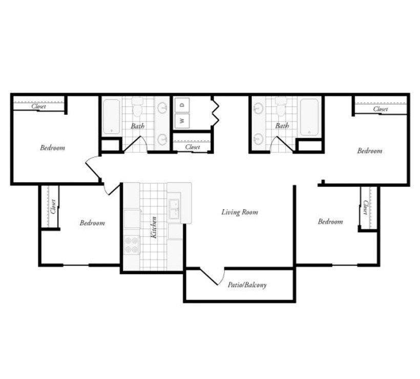 3 Bedrooms 2 Bathrooms Apartment for rent at Aqua Palms in Tallassee, FL