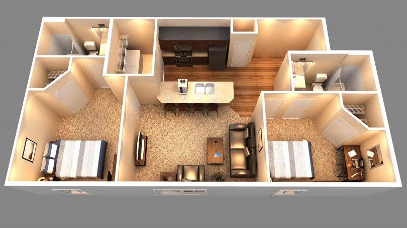 2 Bedrooms 2 Bathrooms Apartment for rent at University Edge in Baton Rouge, LA