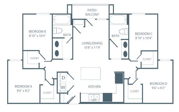 4 Bedrooms 2 Bathrooms Apartment for rent at The Pavilion on Berry in St Paul, MN