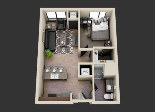 1 Bedroom 1 Bathroom Apartment for rent at Venue at Dinkytown in Minneapolis, MN