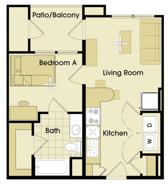 1 Bedroom 1 Bathroom Apartment for rent at Maverick Place in Arlington, TX