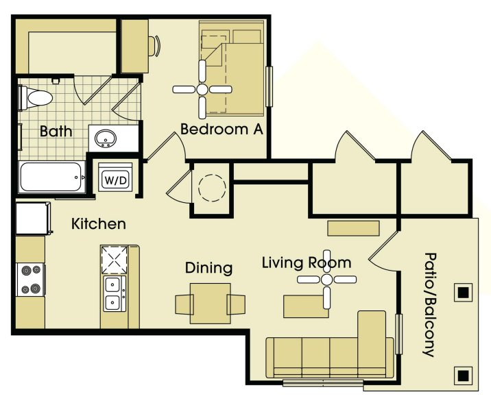 1 Bedroom 1 Bathroom Apartment for rent at Parkway Place in College Station, TX