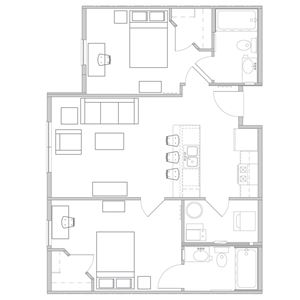 2 Bedrooms 2 Bathrooms Apartment for rent at West Pine Lofts Apartments in St Louis, MO