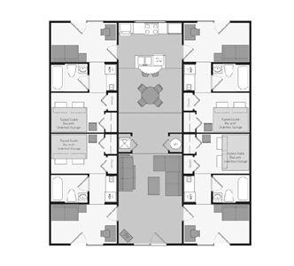 4 Bedrooms 4+ Bathrooms Apartment for rent at Aqua Club Apartments in Tallahassee, FL