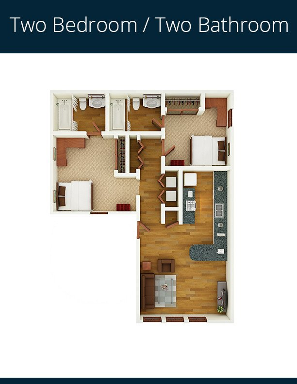 2 Bedrooms 2 Bathrooms Apartment for rent at Gateway At Tempe in Tempe, AZ
