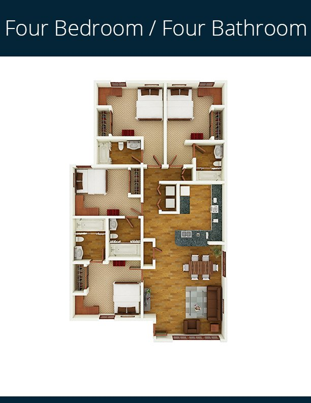 4 Bedrooms 4+ Bathrooms Apartment for rent at Gateway At Tempe in Tempe, AZ