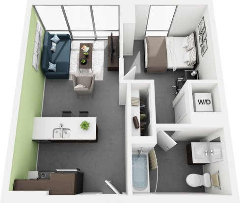 1 Bedroom 1 Bathroom Apartment for rent at Vue53 Apartments in Chicago, IL