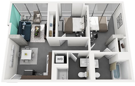 2 Bedrooms 2 Bathrooms Apartment for rent at Vue53 Apartments in Chicago, IL