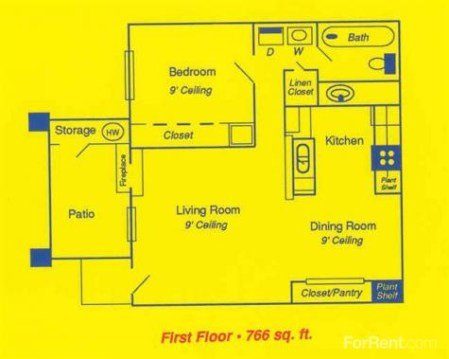 1 Bedroom 1 Bathroom Apartment for rent at Oasis At Inver-west in Toledo, OH