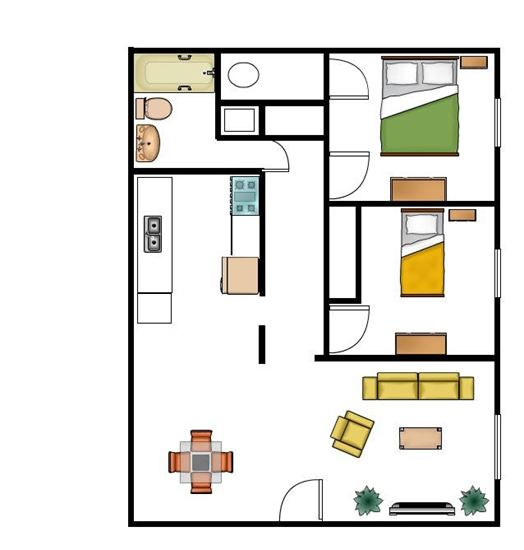 2 Bedrooms 1 Bathroom Apartment for rent at The Contemporary in Toledo, OH