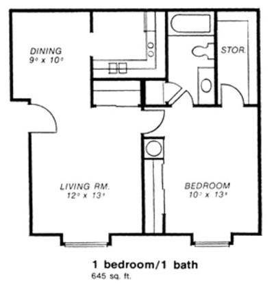 1 Bedroom 1 Bathroom Apartment for rent at Alt Stone Bridge in Toledo, OH