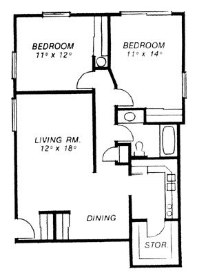 2 Bedrooms 1 Bathroom Apartment for rent at Secor Chateau in Toledo, OH