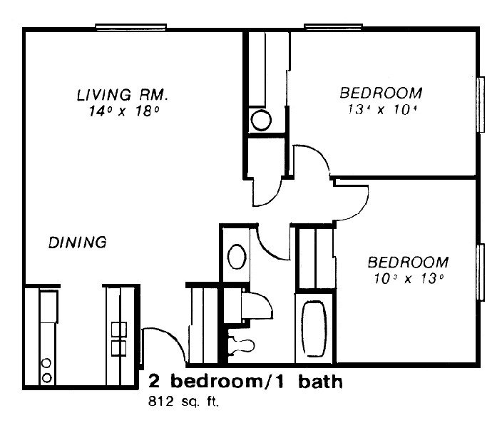 2 Bedrooms 1 Bathroom Apartment for rent at Chateau Monroe in Toeldo, OH