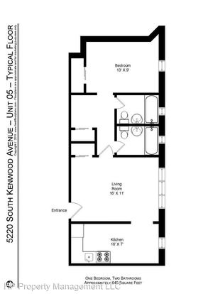 1 Bedroom 2 Bathrooms Apartment for rent at 5220 S Kenwood Ave. in Chicago, IL