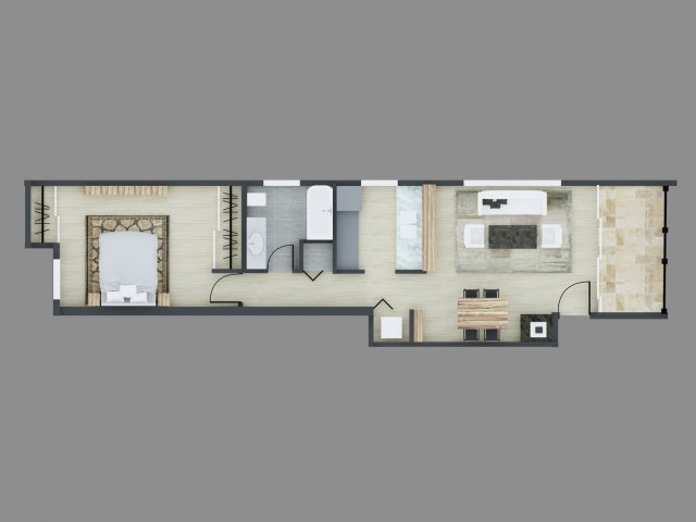 1 Bedroom 1 Bathroom Apartment for rent at The Courtyards At Buckley in Aurora, CO