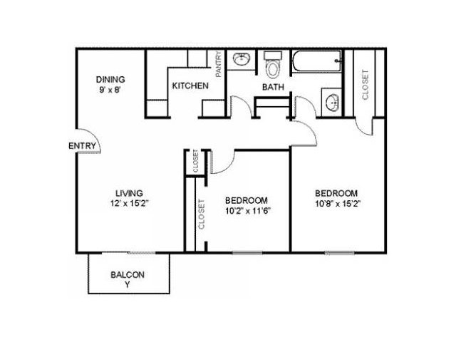 2 Bedrooms 1 Bathroom Apartment for rent at Residences At Arlington Heights in Arlington Heights, IL
