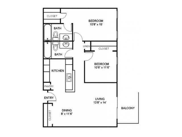 2 Bedrooms 2 Bathrooms Apartment for rent at Residences At Arlington Heights in Arlington Heights, IL