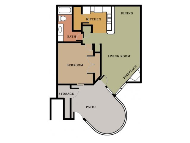 1 Bedroom 1 Bathroom Apartment for rent at Cooper's Pointe in North Charleston, SC