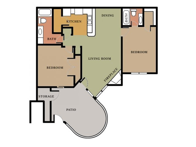 2 Bedrooms 2 Bathrooms Apartment for rent at Cooper's Pointe in North Charleston, SC