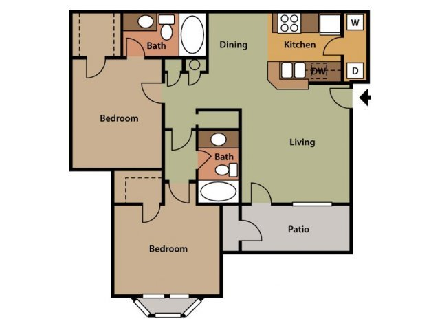 2 Bedrooms 2 Bathrooms Apartment for rent at The Park At Steele Creek in Charlotte, NC